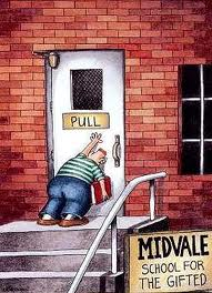 From the inestimable Gary Larson. Please don't sue me.