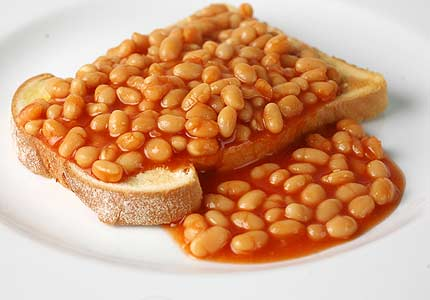 Beans on Toast.  NOT a birthday dinner. But not a bad breakfazt.