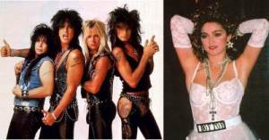 Mötley Crüe or Madonna: Who showed their underwear first?