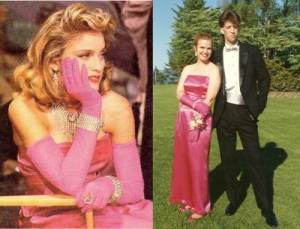 Channeling Madonna at my Canadian boyfriend's prom. (I wouldn't have been caught dead at my own.) Totally love that his hair is bigger than mine!